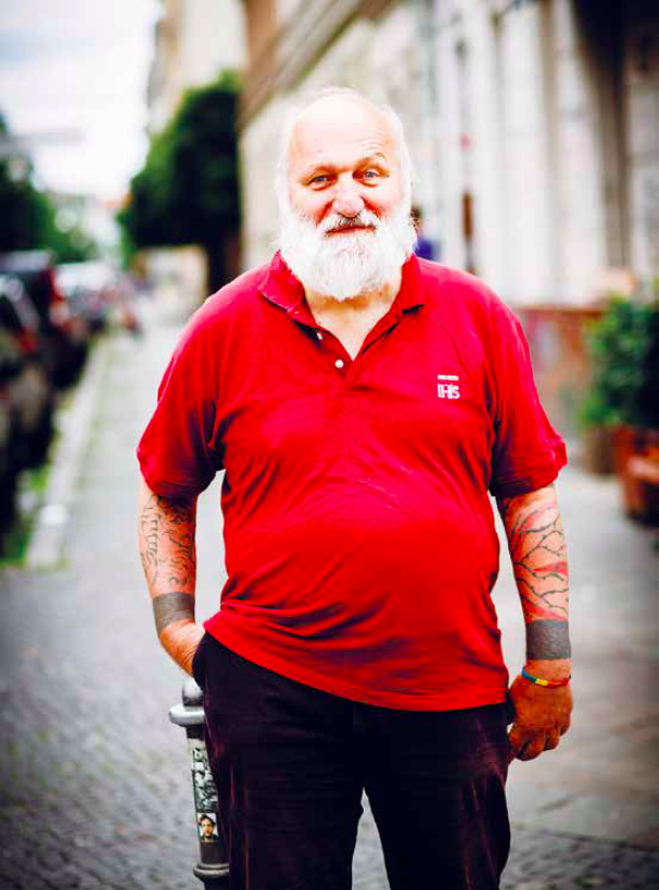 Christian Herwartz in Berlin-Kreuzberg, 2015 (Foto: Wolfgang Borrs)