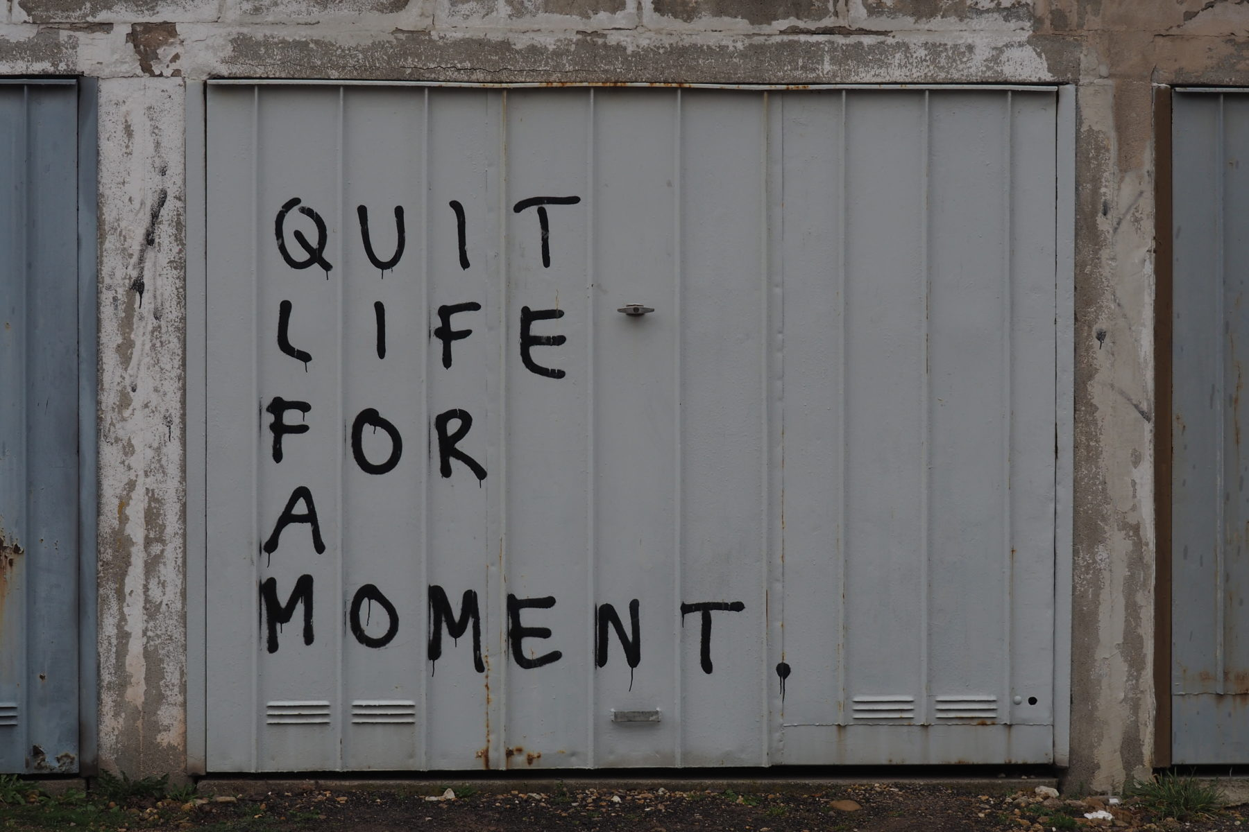 Quit Life for a moment (Foto: Jörg Haas)